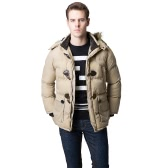 Fashion Winter Men Parka Faux Fur Collar Hooded Thick Warm Jacket Coat Outerwear
