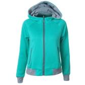New Women Hoodies Sweatshirt Autumn Long Sleeve Zipper Hooded Coat Outerwear Streetwear Top
