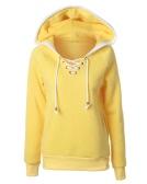 Women Hoodie Hooded Sweatershirt Fleece Raglan Long Sleeves