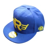 New Fashion Women Men Baseball Cap Hip-Pop Solid Color Embroidery Snapback Cap Blue/Black