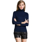 Fashion Winter Women Sweater Knitwear Turtle Neck Long Sleeves