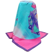 New Fashion Women Square Scarf Colorful Small Town Print Shaw Pashima Kerchief Elegant Thin Scarf