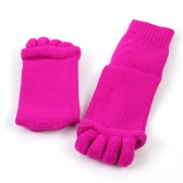 Fashion Alignment Hallux Valgus Pro Foot Care Cure Bunion Cotton Five Finger Toe Separator Splint Socks