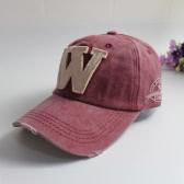 New Women Men Embroidery Letter W Baseball Cap Wash Distressed Snapback Outdoor Sports Hip Hop Adjustable Hat