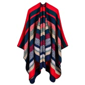 Women Poncho Scarf Cardigan Sweater Striped Warm Cape Shawl Long Scarves Pashmina Outwear