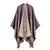 Fashion Women Poncho Cardigan Sweater Camouflage Faux Cashmere Capes Shawl Scarf Loose Outerwear Coat