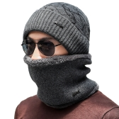 Men Knitted Gaiter Autumn Winter Ring Scarf Neck Collar Loop Fur Ribbed Warm Headwear