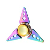 Fidget Toys Anti-Anxiety 360° Tri Triangle Focusing EDC Toy Focus Spinner for Kids Adults Stress Reducer Relieves ADHD Anxiety Desk Portable New Style Rainbow Color