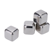 4Pcs Reusable Stainless Steel Cooler Set Wine Drinks Cooling Chilling Cube with Plastic Storage Case