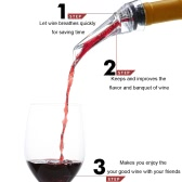 Professional Red Wine Aerating Pourer Spout Decanter Wine Aerator Quick Aerating Pouring Tool with Holder