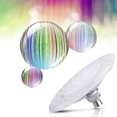 "Anself 8"" Automatic LED Light Shower Head Bath Sprinkler for Bathroom Multiple Color 7 Colors Water Glow"