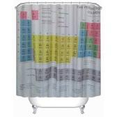 """Anself 180 * 180cm Tabla Periódica tamaño de la cortina de la ducha del patrón 71 """"* 71"""" cortina de baño resistente al agua con 12 Gancho C Anillo"""