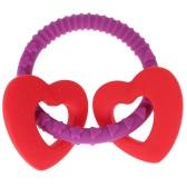 Candy Color Food Grade Cute Silicone Chewable Baby Teething Toy Loop Bracelet Teether BPA Free