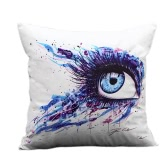 Fashion Colorful Art Eye Print Throw Pillow Case Waist Cushion Cover Protector Bed Sofa Car Home Decor