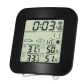 Multi-functional Wireless Weather Station Clock Digital LCD Indoor Outdoor Thermometer Temperature Alarm Hygrometer Calendar Function