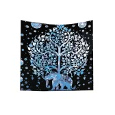 130*150cm Polyester Home Mandala Wall Decor Art Forest Tree Nature Animals Printing Bohemian Hanging Tapestry Beach Throw Towel Blanket Picnic Carpet Yoga Mat Bedspread Tablecloth