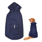 4XL Reflective Pet Dog Rain Coat Raincoat Rainwear with Leash Hole for Medium Large Dogs