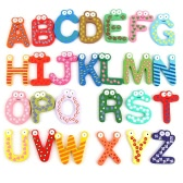 26 Alphabet Letters A-Z Magnetic Refrigerator Stick Baby Education Toys Household Wooden Fridge Magnets