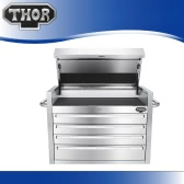 THOR HTC3008W-1 High Quality Anti-fingerprint Stainless Steel Tool Chests 30 Inch 4 Drawers Tool Box Excellent Top Chest Tool Storage Box Sliding Drawers