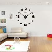 Modern 3D DIY Wall Clock Quartz Clocks Large Horloge Watch Acrylic Glass Mirror Effect for Home Living Room Decor Decoration