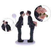 Cute and Funny Synthetic Resin Bride & Groom Wedding Cake Topper Romantic Wedding Party Decoration Figurine Craft Gift