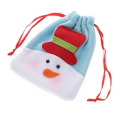 Festnight Mini Lovely Snowman Christmas Gift Candy Cookie Chocolate Drawstring Bag Festival Decoration