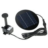 Anself 9V 1.5W Solar Panel Solar Powered Fountain Submersible Brushless Water Pump Kit for Bird Bath Pond Pull Garden
