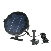 Anself 9V 3W Solar Panel Solar Powered Fountain Submersible Brushless Water Pump Kit for Bird Bath Pond Pull 190L/H 170cm Lift