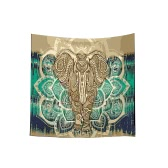 130*150cm Indian Elephant Mandala Bohemian Square Tapestry Wall Hanging Women Fashion Beach Throw Towel Blanket Picnic Carpet Yoga Mat Bedspread Tablecloth Home Decor Art