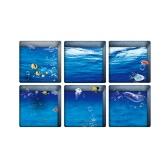 6pcs/set Multi-purpose 3D Bathtub Stickers Non-slip Waterproof Self-adhesive Bath Tub Tattoos Wall Desk Floor Decor Decals--Rose