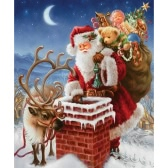 Handmade DIY Diamond Painting 5D Santa Claus Pattern Pasted Cross Stitch for Living Room Children