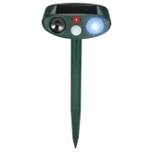 Solar Powered Ultrasonic Pest Repeller Motion Activated Outdoor Animal Repellent for Repelling Animals Cats Dogs Birds