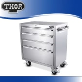 THOR HTC3008W-2 High Quality Anti-fingerprint Stainless Steel Rolling Tool Chests 30 Inch 4 Drawers Tool Box Excellent Tool Storage Box Bottom Cabinet