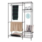 "Multi-functional Garment Rack Closet Organizer Clothes Hanger Wardrobe Home Shelf Without Cover 47.25""*17.72""*70.87"""