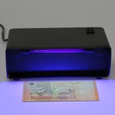 UV Light Money Counterfeit Detector Currency Banknote Detecting Machine Water Mark Detection 220V