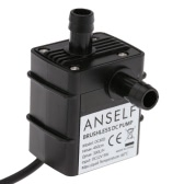 Anself Ultra-quiet Mini DC12V 9W Micro Brushless Water Oil Pump Waterproof Submersible Fountain Aquarium Circulating 300L/H Lift 450cm