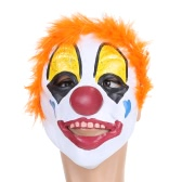 Festnight Adult Latex Clown Mask with Short Hair Halloween Masquerade Cosplay Stage Show Costume