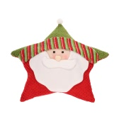Festnight Five-pointed Star Shaped Throw Pillow Super Cute Christmas Pillow Colorful Santa Clause Snowman Reindeer Throw Pillow Christmas Decoration