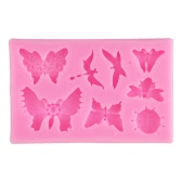 1Pcs 100% Food Grade Silicone Baking Candy Chocolate Mold Mould Insect Butterfly Bakeware Decorating Decoration DIY Mould Soap Die Random Color