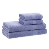 2pcs Bath Towels + 2pcs Hand Towels Set Cotton Soft Fast Absorbant Bath Towel Cloth for Bathroom Home Hotel Washing Cleaning Hand Hair