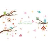 Cute Wall Sticker Removable Lovely Wallpaper Art Decal Room Decoration Reusable Peel and Stick Wall Sticker for Kids Wall Decals