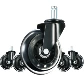 5x Wheels Casters Calm Swivel Caster Wheels Universal 11mm*22mm Chair Wheel Set for Hard Floor Home Office Furniture