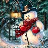 Handmade Diamond Home Wall Decoration Painting Christmas Snowman Pattern 5D Diamond Painting