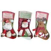 Merry Christmas Hanging Stockings Gift Candy Bag Christmas Decoartions Ornaments--Santa