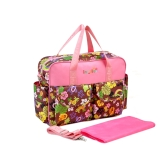 Colorful Baby Diaper Shoulder Bag Mummy Handbag with Changing Pad Liner Antibacterial Water Resistant
