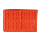 4-Cavity Silicone Non-Stick Waffle Mold Maker DIY Cake Chocolate Candy Molds Waffle Pan Baking Tool