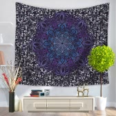 130*150cm Indian Mandala Home Polyester Wall Hanging Tapestry Decor Art Colorful Painting Bedspread Beach Towel Picnic Blanket Table Cloth Carpet