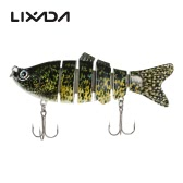 Lixada 10cm/20g Lifelike 6 Jointed Sections Swimbait Fishing Lure Crankbait Hard Bait Fish Hook Fishing Tackle