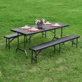 iKayaa 6FT Portable Folding Camping Picnic Table