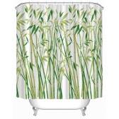 "Anself 180*180cm Bamboo Pattern Shower Curtain Size 71""*71"" Water Resistant Bath Curtain with 12 C Ring Hook"